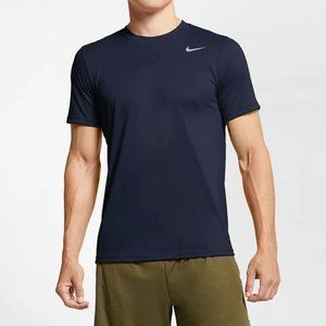 Nike   Navy Blue Dri Fit Active Crew Neck Shirt XL
